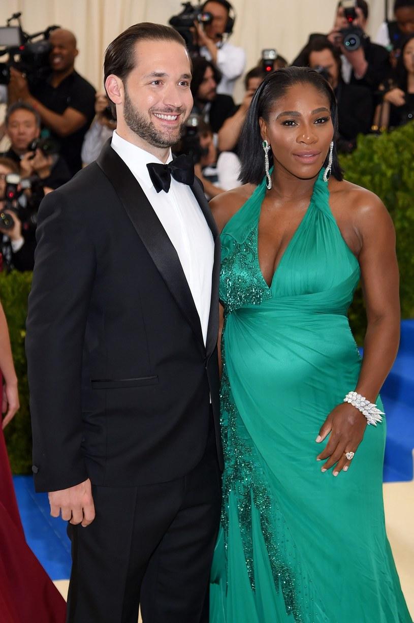 Serena Williams z narzeczonym Alexisem Ohanianem /AFP