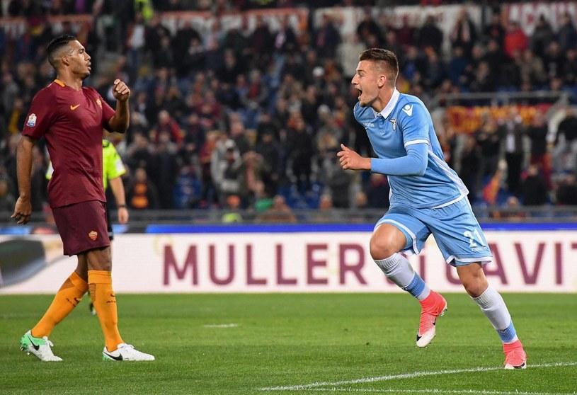 Sergej Milinković-Savić po golu na 1-0 dla Lazio /PAP/EPA