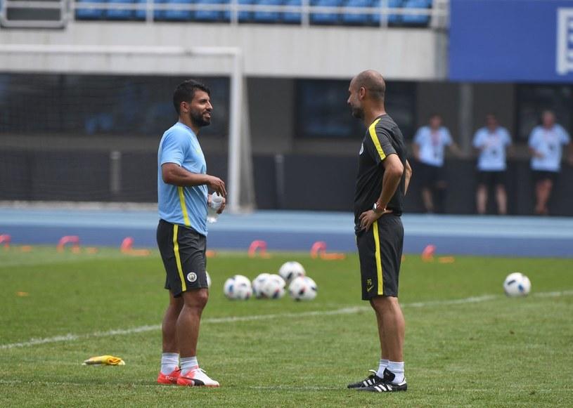 Sergio Aguero i Pep Guardiola /AFP