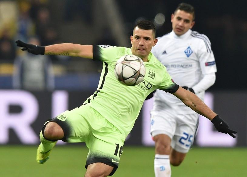 Sergio Aguero, snajper Manchesteru City /AFP