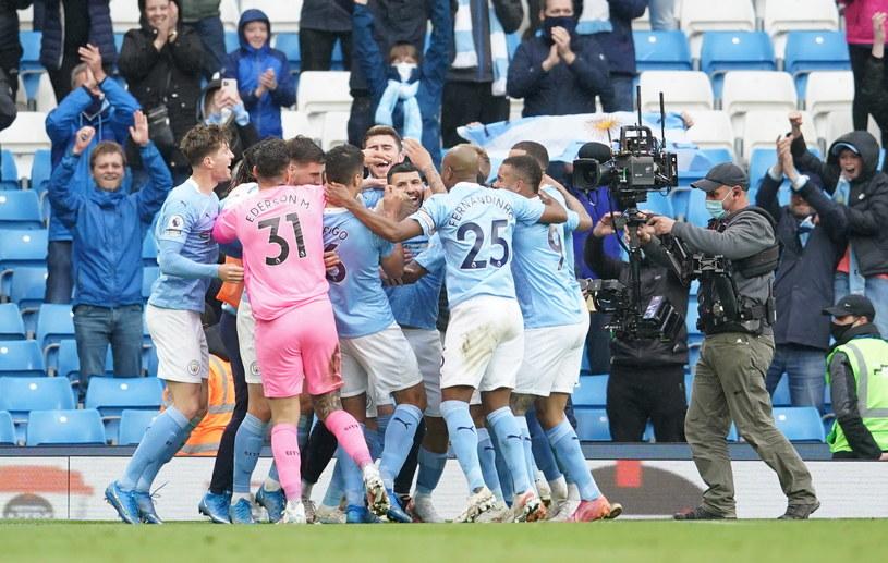 Sergio Aguero w wielkim stylu pożegnał się z Manchesterem City /Dave Thompson /PAP/EPA