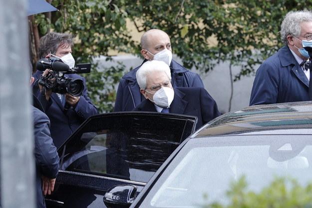 Sergio Mattarella opuszcza szpital /GIUSEPPE LAMI /PAP/EPA