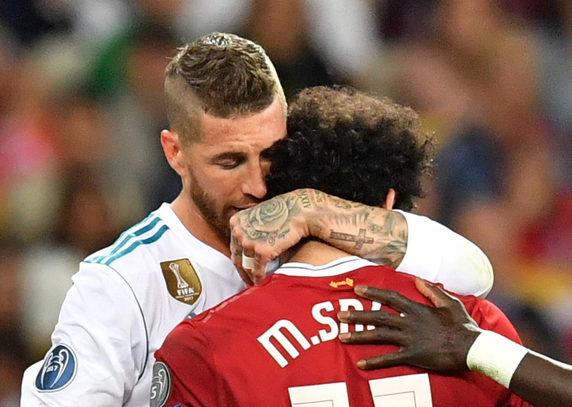 Sergio Ramos i Mohamed Salah /PAP/EPA