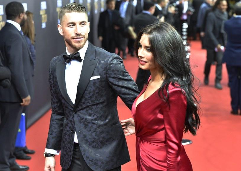 """Sergio Ramos i Pilar Rubio, którą dziennikarze wybrali do """"11"""" /AFP"""