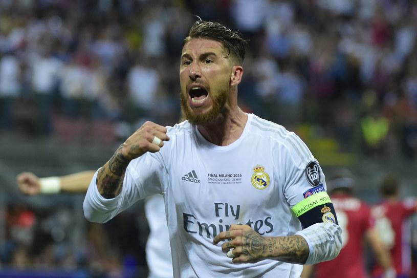 Sergio Ramos świętuje zdobycie bramki w finale Ligi Mistrzów /AFP