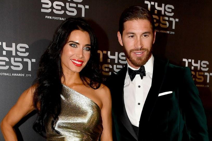 Sergio Ramos wraz z żoną Pilar /AFP