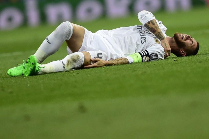 Sergio Ramos z kontuzją barku /AFP