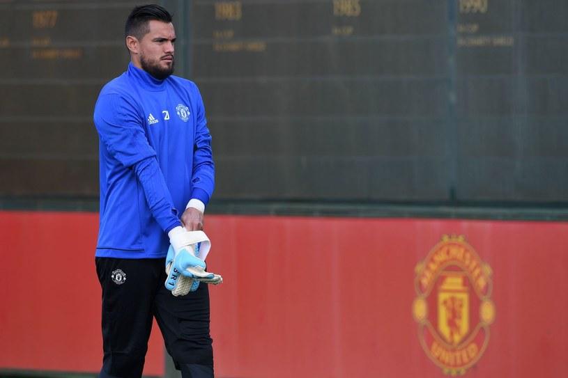 Sergio Romero podczas treningu Manchesteru United /AFP
