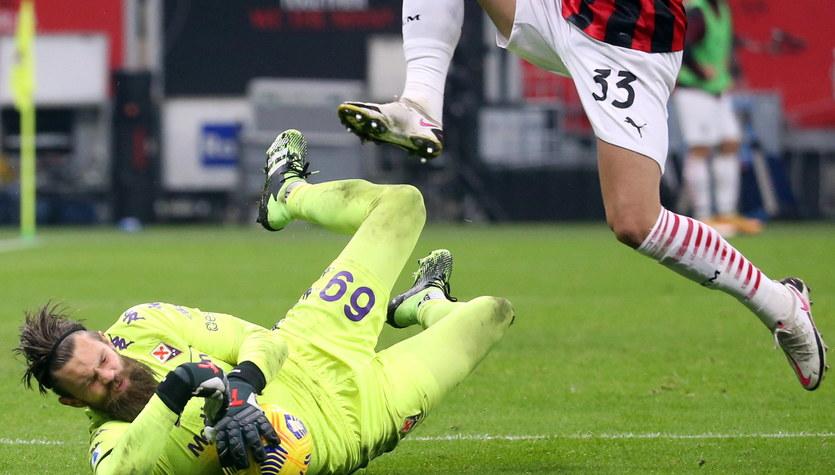 Seria A. Bartłomiej Drągowski obronił karnego, ale Fiorentina uległa Milanowi