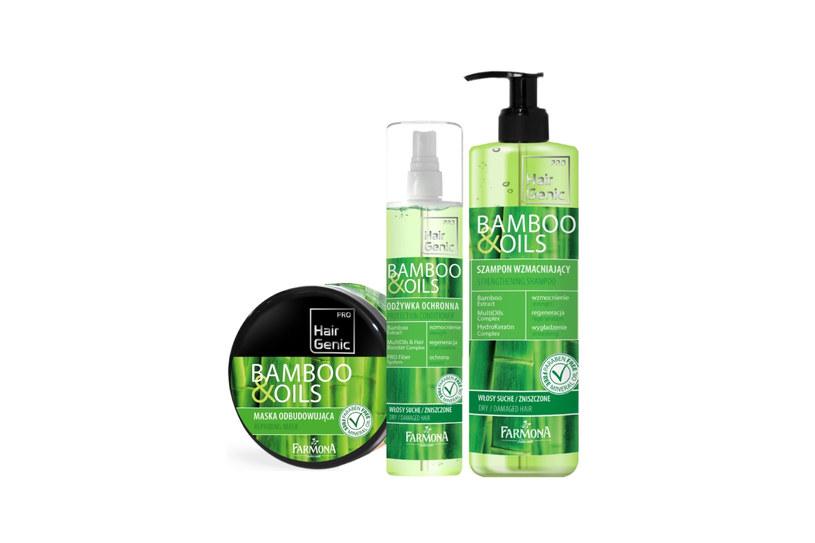 Seria kosmetyków Hair Genic Bamboo & Oils /Styl.pl/materiały prasowe