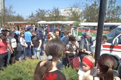 Seria wybuchów na Ukrainie, są ranni