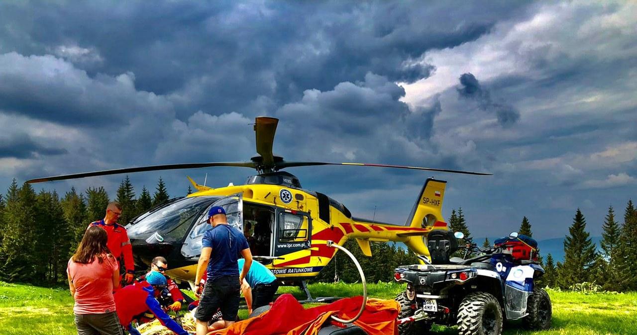 Seria wypadków w Beskidach. Pracowity weekend goprowców