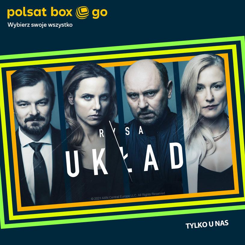 """Serial """"Układ"""" jest już dostępny w serwisie Polsat Box Go /Polsat /materiały prasowe"""