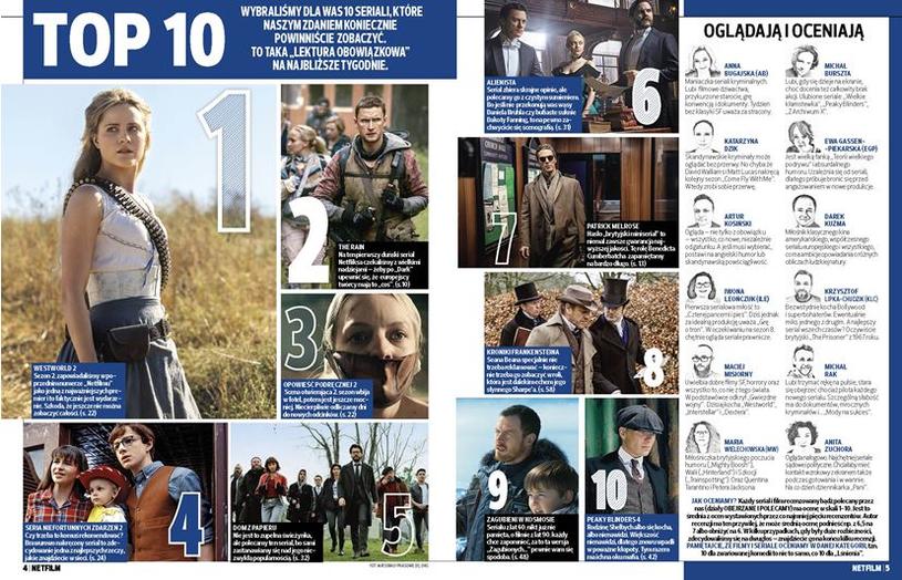 """Serialowy Top 10 """"Netfilmu"""" /materiały prasowe"""