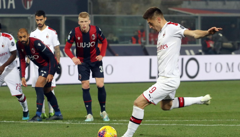 Serie A. Bologna - AC Milan 2-3 w 15. kolejce