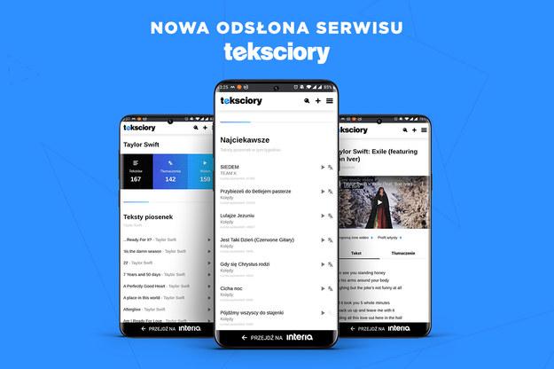 Serwis Tekściory w nowej wersji  Serwis Tekściory w nowej wersji /Interia.pl /INTERIA.PL