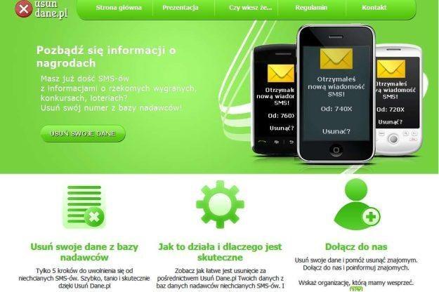 Serwis UsunDane.pl ma ułatwić nam uwolnienie się od niechcianych SMS-ów /vbeta