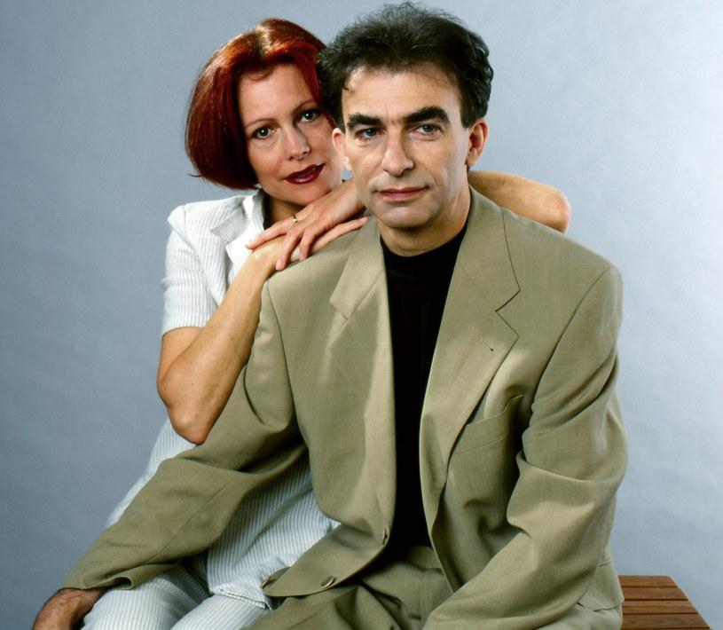 Seweryn Krajewski z żoną Elżbietą, lata 90. /Czeslaw Czaplinski/FOTONOVA /Fotonova