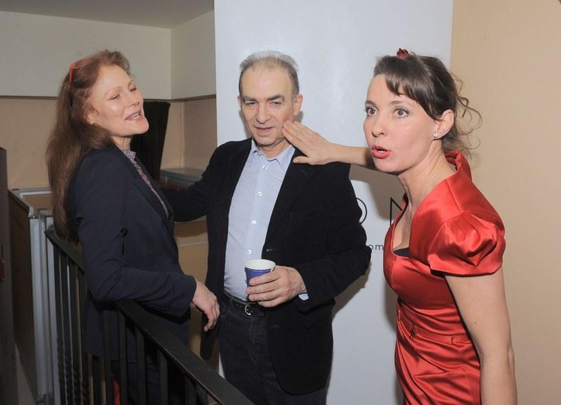 Seweryn Krajewski z żoną i Justyną Sieńczyłło /Tricolors /East News