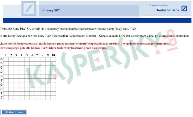 Sfałszowana strona, na której użytkownik jest proszony o podanie kodu jednorazowego /materiały prasowe