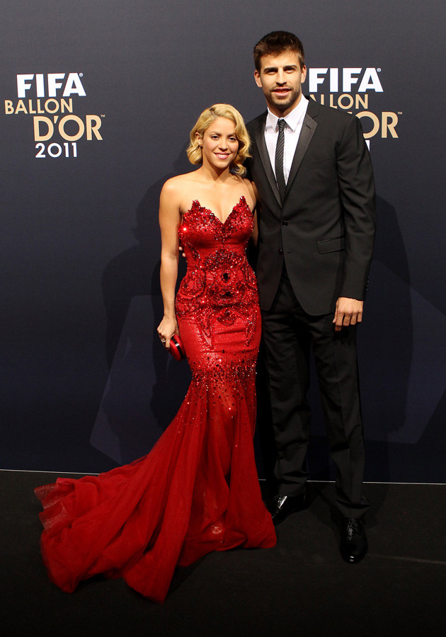 Shakira, Gerard Pique /Scott Heavey /Getty Images