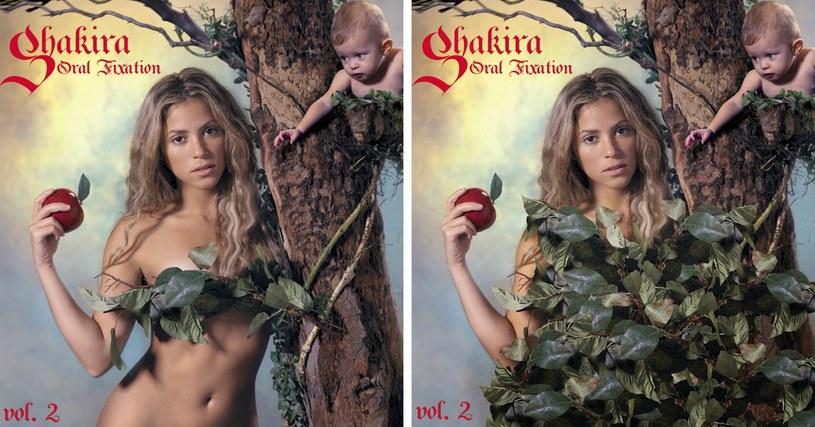 """Shakira na dwóch wersjach okładki """"Oral Fixation vol. 2"""" /"""