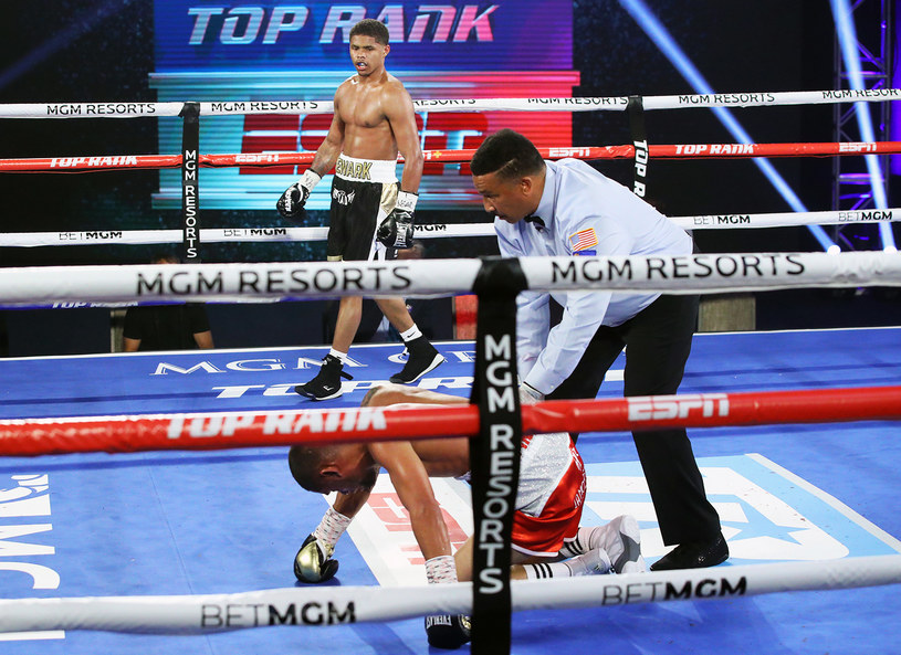 Shakur Stevenson przed czasem pokonał Feliksa Caraballo /Getty Images