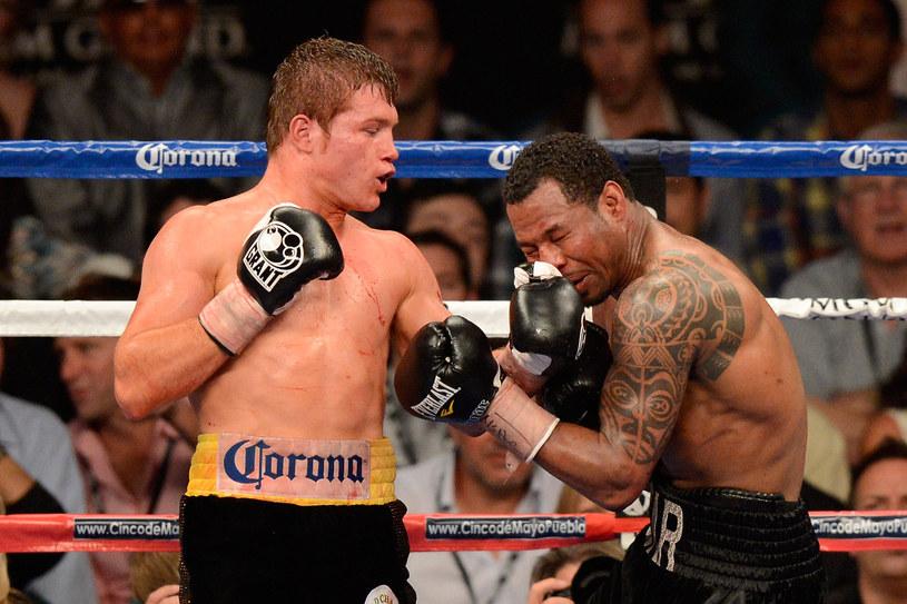 Shane Mosley (z prawej) w walce z Canelem Alvarezem /- /AFP