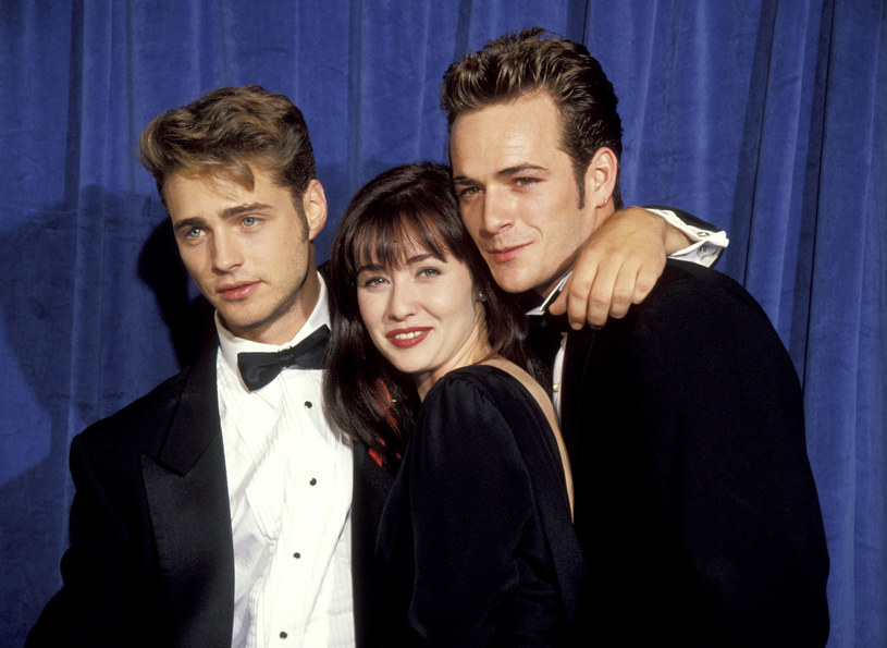 Shannen Doherty, Jason Priestley i Luke Perry /Jim Smeal/Ron Galella Collection /Getty Images