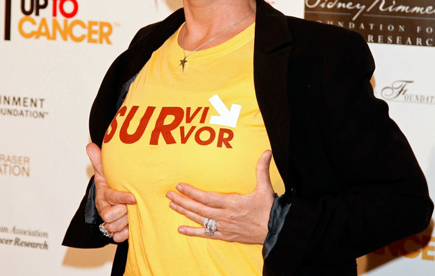 Sharon prezentuje piersi, fot. Kevin Winter  /Getty Images/Flash Press Media