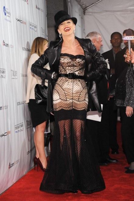 "Sharon Stone na gali ""Elton John AIDS Foundation's"" /Getty Images/Flash Press Media"