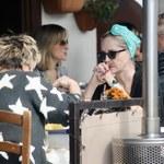 Sharon Stone sfotografowana podczas obiadu