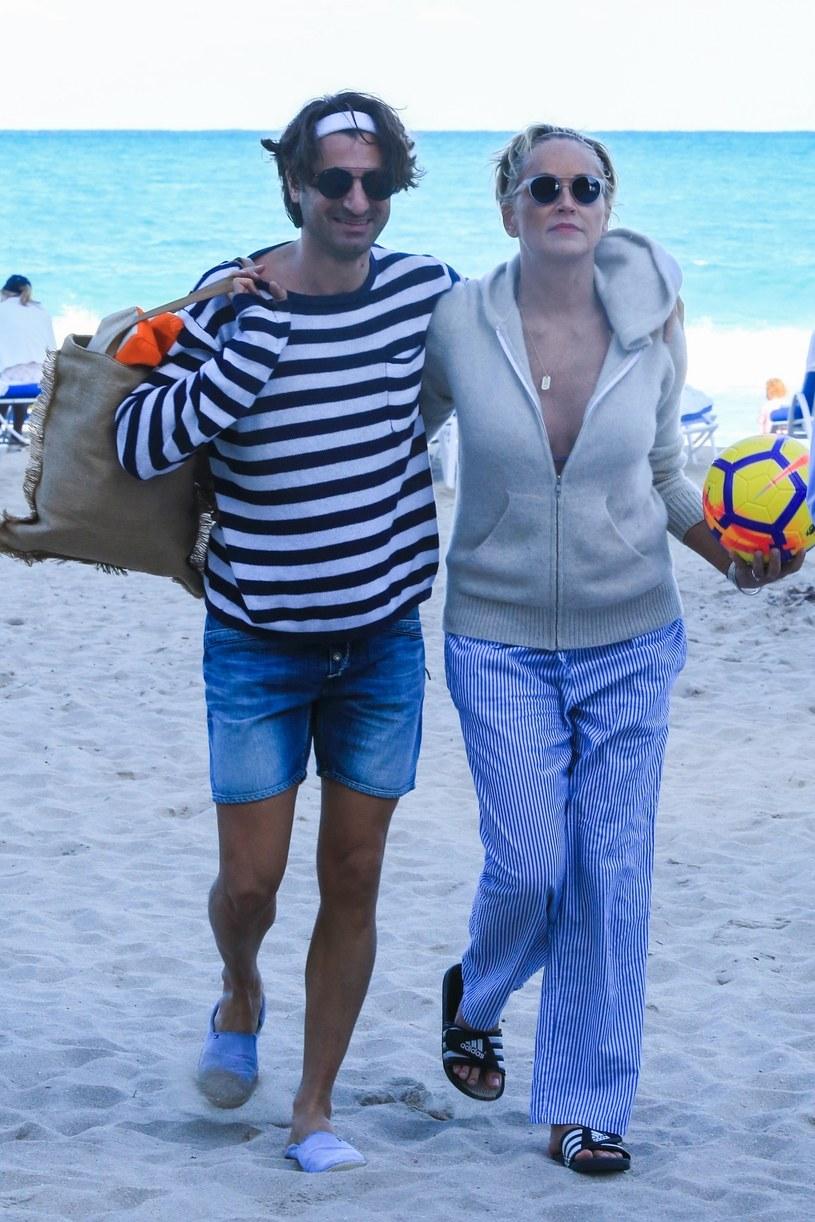 Sharon Stone z kochankiem /Agencja FORUM