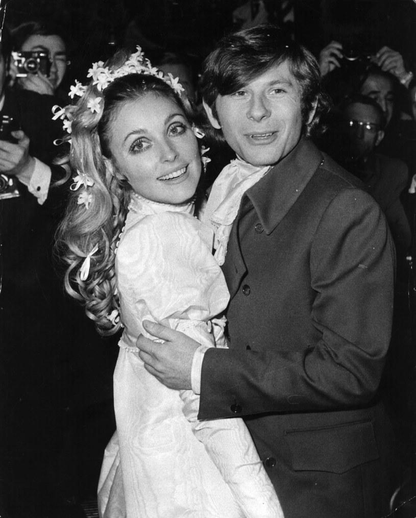 Sharon Tate i Roman Polański w dniu ślubu /Getty Images