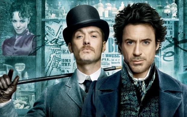 Sherlock Holmes - fragment okładki DVD z filmu /Informacja prasowa