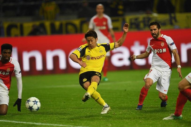 Shinji Kagawa dzień po zamachu zdobywa bramkę w meczu Borussii z Monaco /AFP