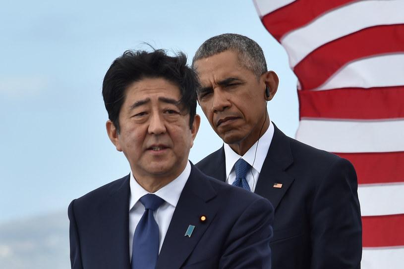 Shinzo Abe i Barack Obama w Pearl Harbor /NICHOLAS KAMM /AFP