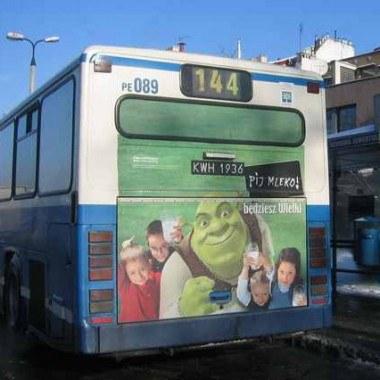Shrek na krakowskim autobusie, fot. Business Consulting Sp. z o.o. /Archiwum