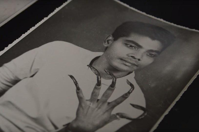 Shridar w młodości. Już wtedy długie paznokcie nie wyglądały zbyt estetycznie /archiwum prywatne