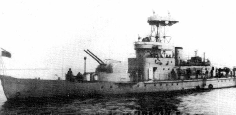 """""""Shun-tien"""", monitor Flotylii Sungaryjskiej. Dwa okręty tego typu oraz dwa typu """"Chin-jen"""" były jedynymi realnymi przeciwnikami Rosjan na Amurze /Archiwum Marynarki Wojennej FR /INTERIA.PL/materiały prasowe"""