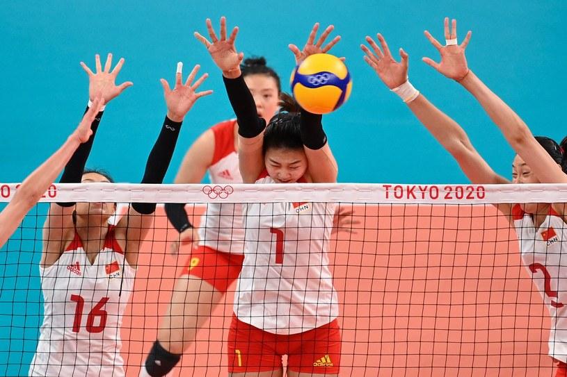 Siatkarki Chin w meczu z Rosją. Tokio 2020 /ANGELA WEISS/AFP /AFP