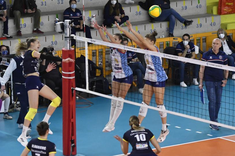 Siatkarki Developres SkyRes Rzeszów przegrały wyraźnie z włoskim zespołem /www.cev.eu