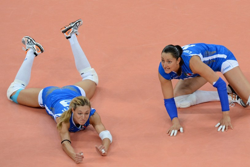Siatkarki reprezentacji Włoch - Valentina Arrighetti (L) i Carolina del Pilar Costagrande /AFP