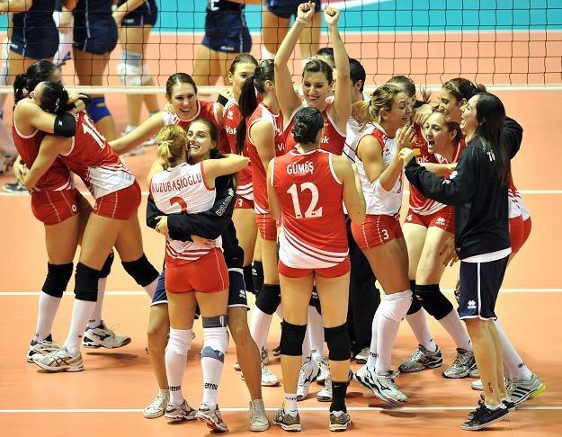 Siatkarki Turcji zdobyły brązowy medal mistrzostw Europy /AFP