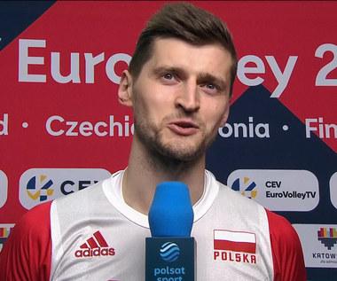 Siatkarskie ME. Piotr Nowakowski po meczu Polska - Serbia. WIDEO (Polsat Sport)