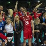 Siatkarskie ME. Polska-Serbia. Siatkarze świętowali w obecności partnerek. Monika Kubiak, Anna Kurek...