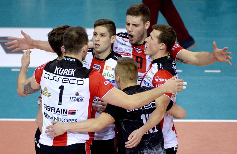 Siatkarze Asseco Resovii odnieśli trzecie zwycięstwo w obecnej edycji Ligi Mistrzów /Fot. Darek Delmanowicz /PAP