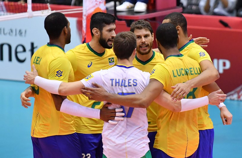 Brazilian Volleyball Players during the World Cup / FIVB /