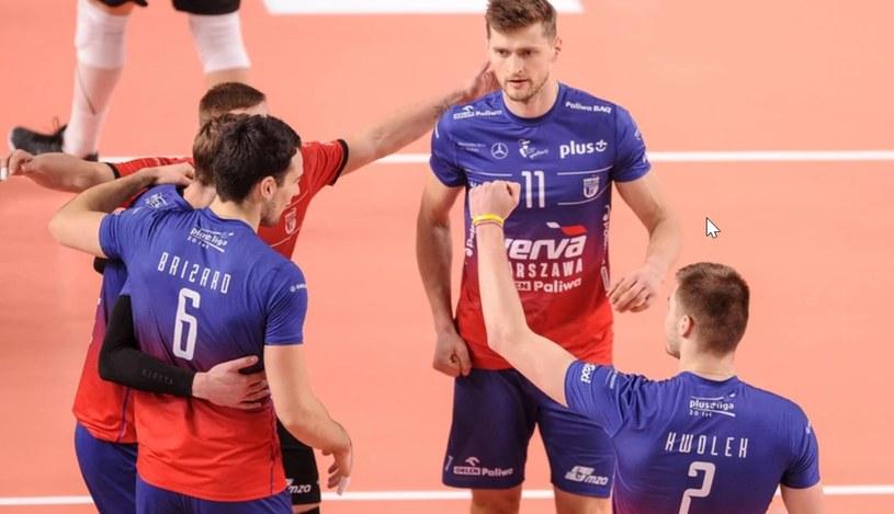 Siatkarze ekipy Verva Warszawa ORLEN Paliwa /Rafał Rusek /Newspix