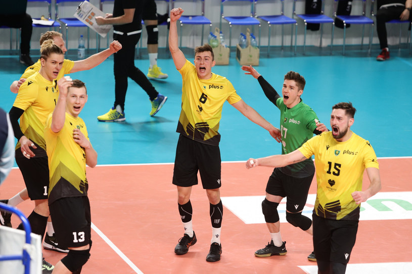 Siatkarze GKS-u Katowice /Tomasz Kudala/REPORTER /East News